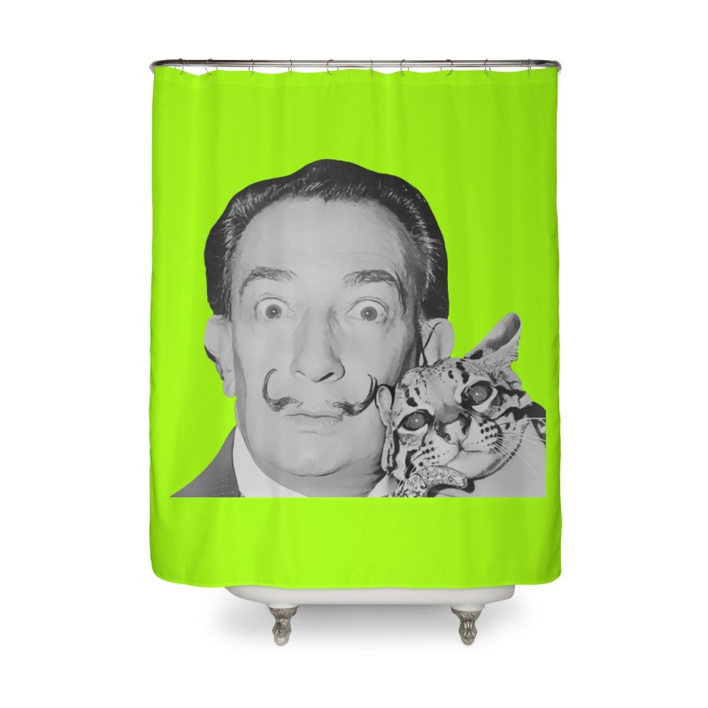 Hero of the Rake & Herald Salvador Dali (and Ocelot) Home Shower Curtain by The Rake & Herald Online Clag Emporium