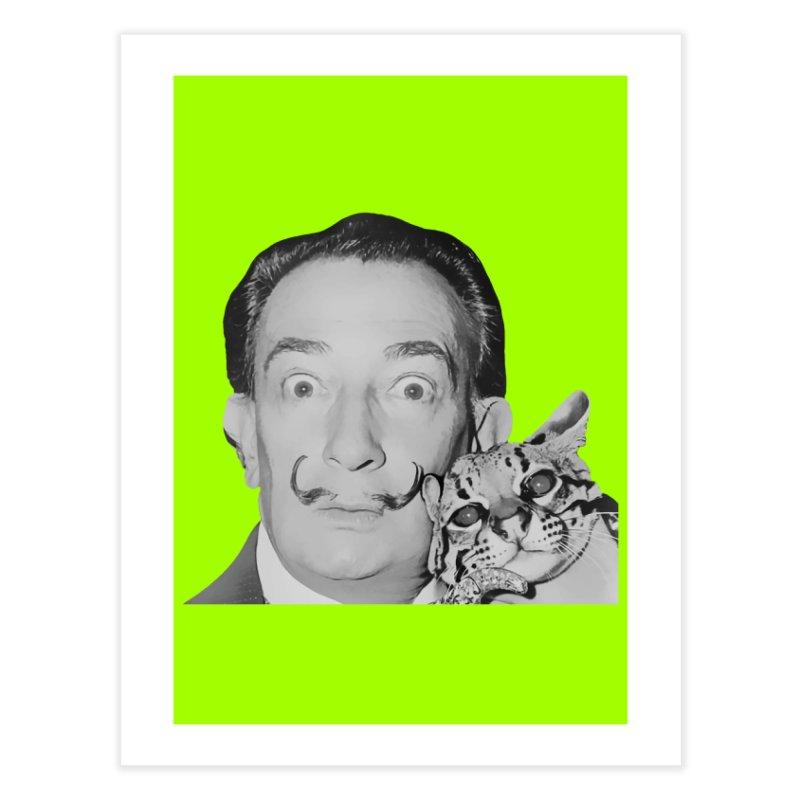 Hero of the Rake & Herald Salvador Dali (and Ocelot) Home Fine Art Print by The Rake & Herald Online Clag Emporium