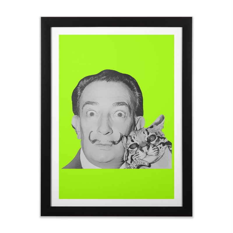 Hero of the Rake & Herald Salvador Dali (and Ocelot) Home Framed Fine Art Print by The Rake & Herald Online Clag Emporium
