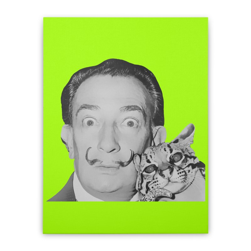 Hero of the Rake & Herald Salvador Dali (and Ocelot) Home Stretched Canvas by The Rake & Herald Online Clag Emporium
