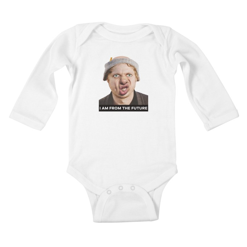 I Am From the Future Kids Baby Longsleeve Bodysuit by The Rake & Herald Online Clag Emporium