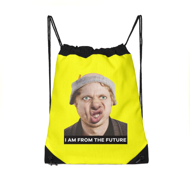 I Am From the Future Accessories Drawstring Bag Bag by The Rake & Herald Online Clag Emporium