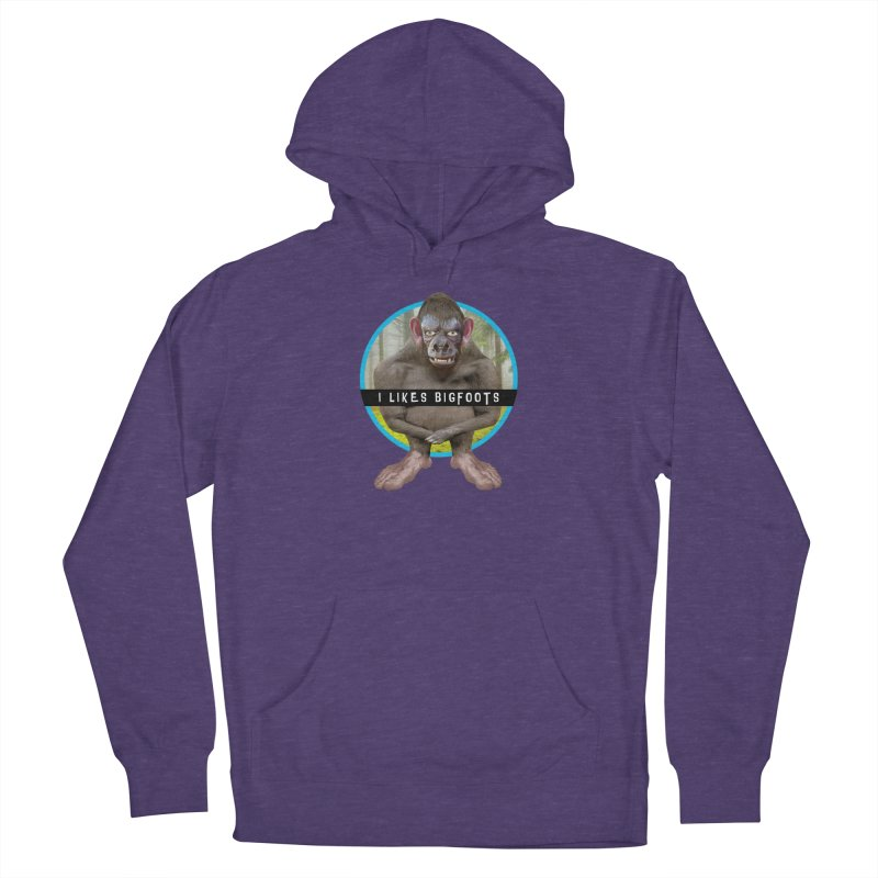 I Likes Bigfoots Men's French Terry Pullover Hoody by The Rake & Herald Online Clag Emporium