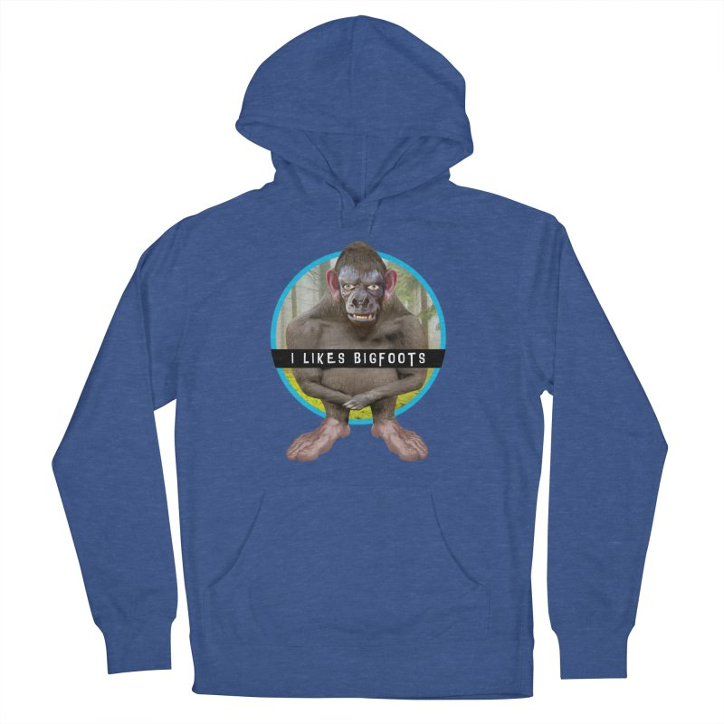 I Likes Bigfoots Women's French Terry Pullover Hoody by The Rake & Herald Online Clag Emporium