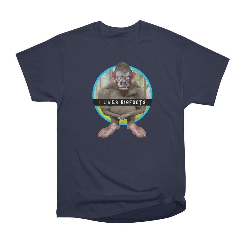 I Likes Bigfoots Men's Heavyweight T-Shirt by The Rake & Herald Online Clag Emporium