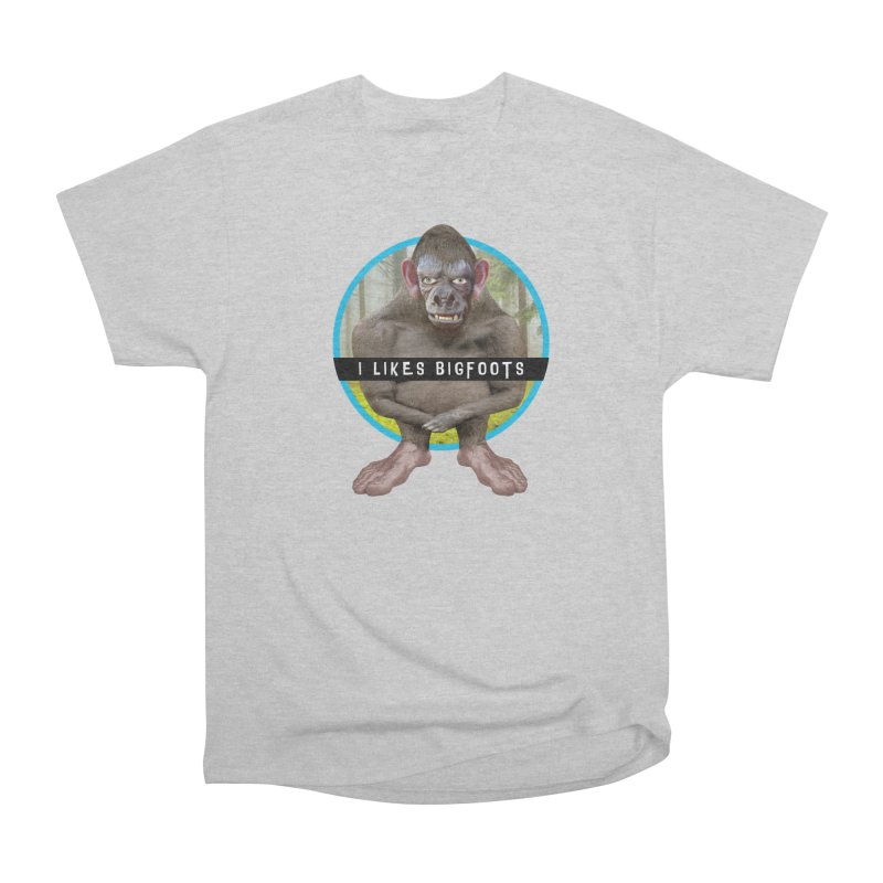 I Likes Bigfoots Men's Heavyweight T-Shirt by The Rake & Herald Online Clag Emporium