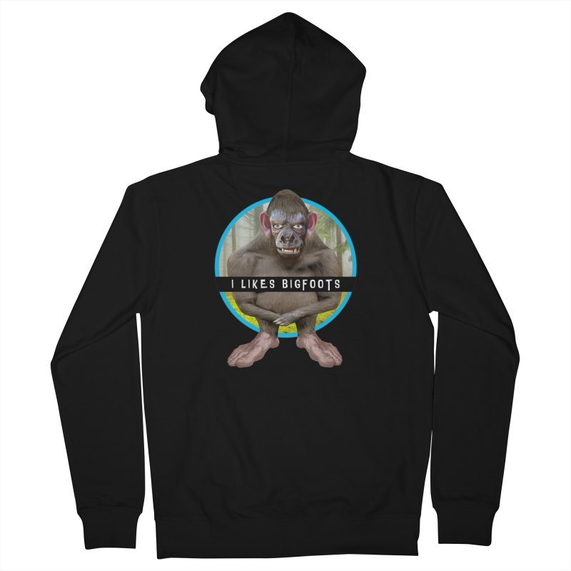 I Likes Bigfoots Women's French Terry Zip-Up Hoody by The Rake & Herald Online Clag Emporium