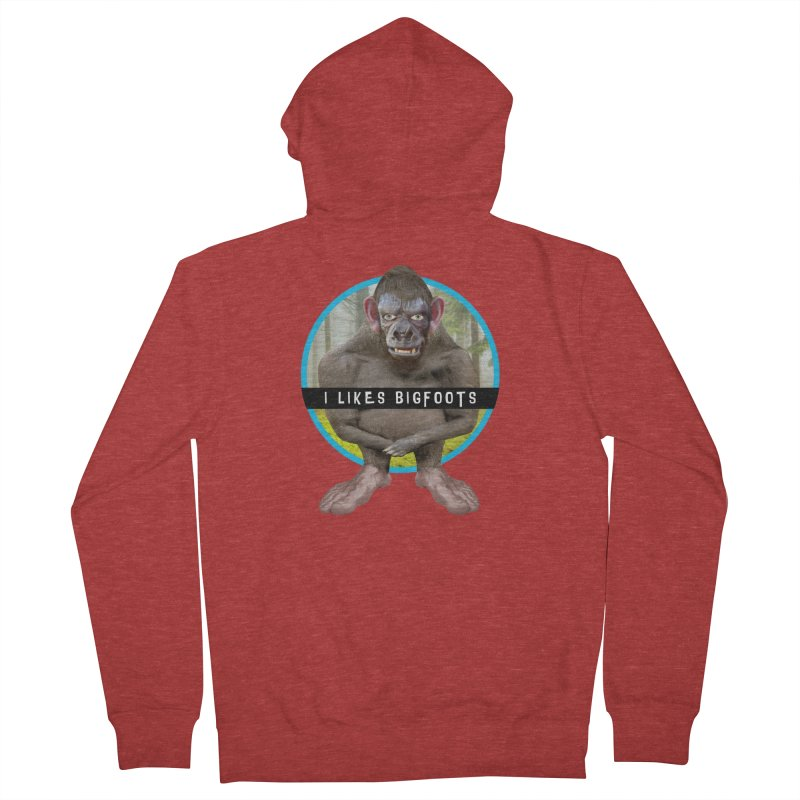 I Likes Bigfoots Men's French Terry Zip-Up Hoody by The Rake & Herald Online Clag Emporium