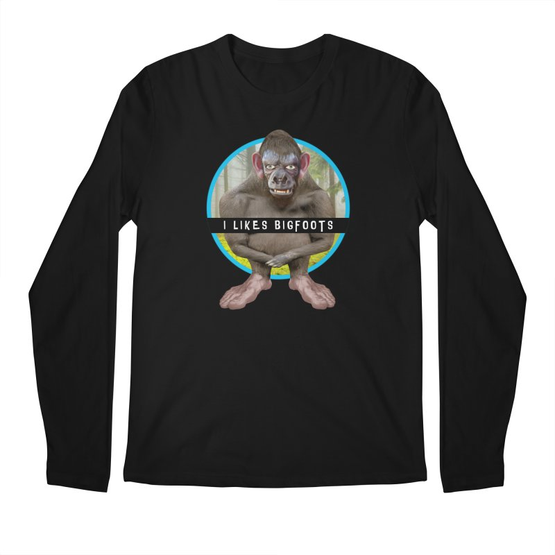 I Likes Bigfoots Men's Regular Longsleeve T-Shirt by The Rake & Herald Online Clag Emporium