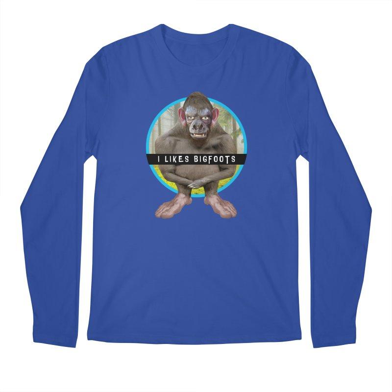 I Likes Bigfoots Men's Longsleeve T-Shirt by The Rake & Herald Online Clag Emporium
