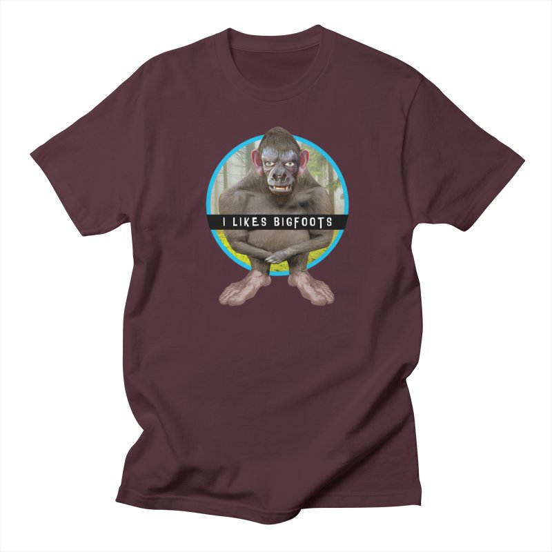 I Likes Bigfoots Men's T-Shirt by The Rake & Herald Online Clag Emporium