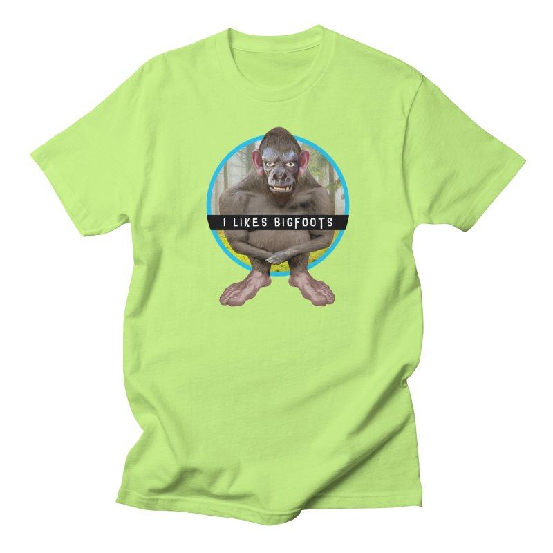 I Likes Bigfoots Women's Regular Unisex T-Shirt by The Rake & Herald Online Clag Emporium