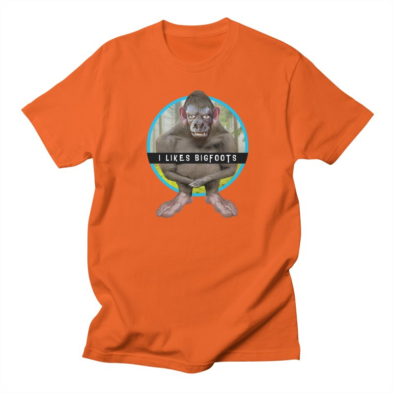 I Likes Bigfoots Women's Regular Unisex T-Shirt by The Rake & Herald Online Clag Emporium