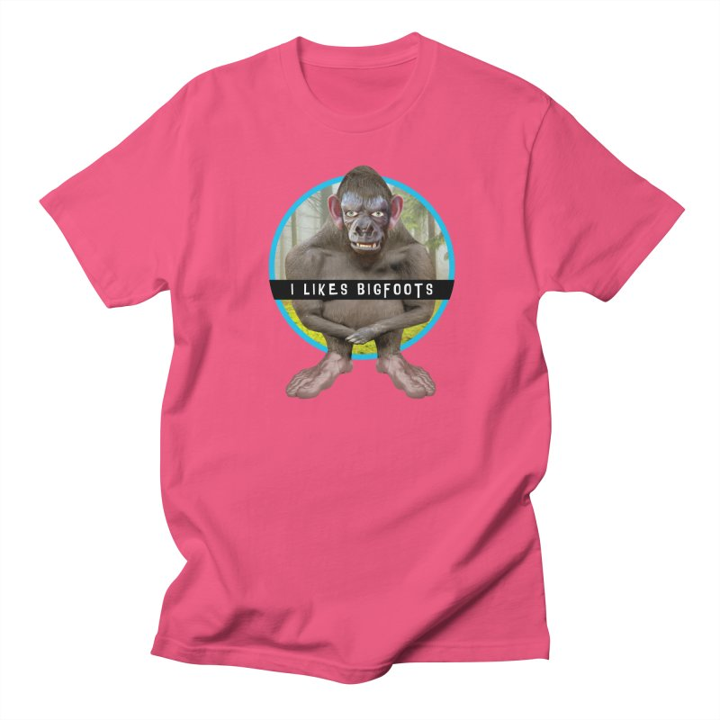 I Likes Bigfoots Men's T-Shirt by The Rake & Herald Online Clag Emporium