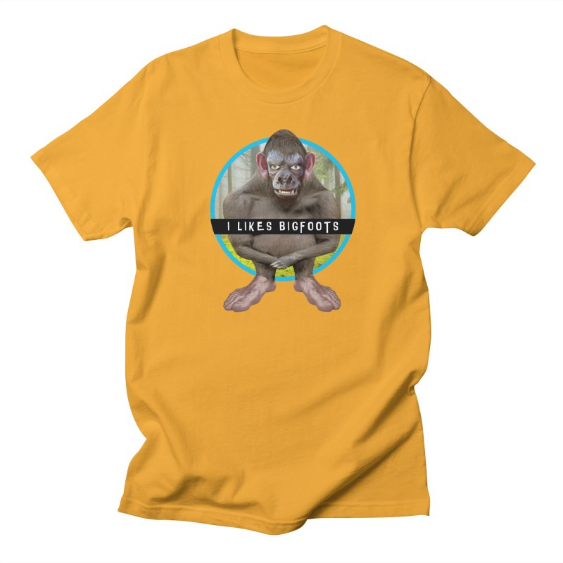 I Likes Bigfoots Men's Regular T-Shirt by The Rake & Herald Online Clag Emporium