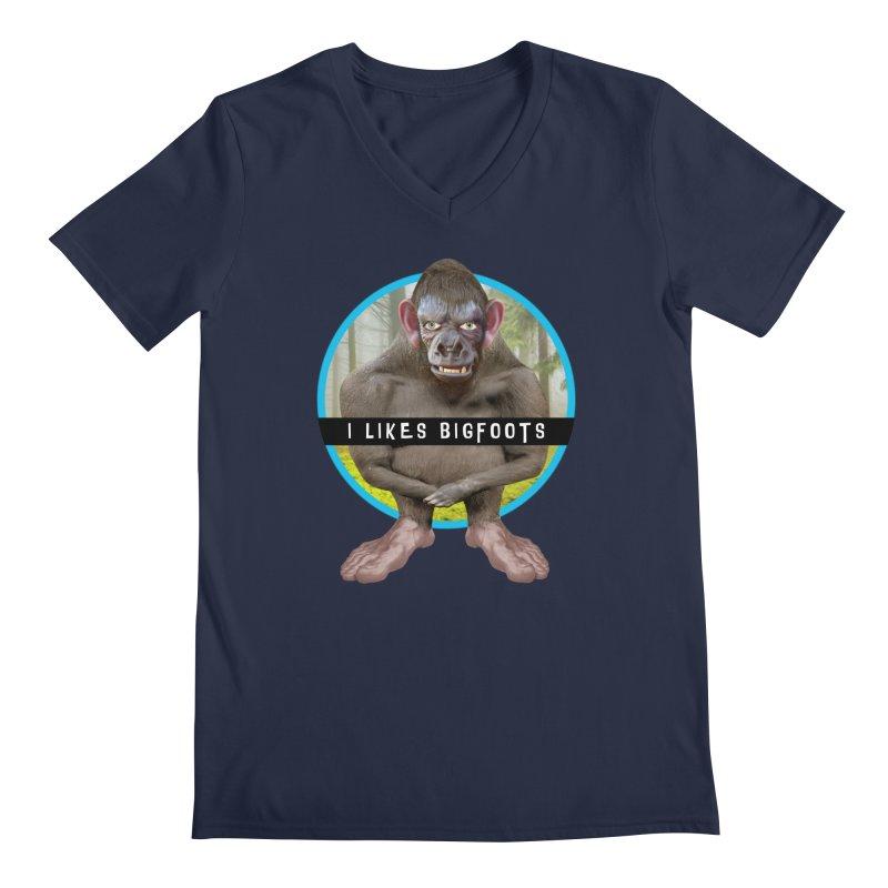 I Likes Bigfoots Men's Regular V-Neck by The Rake & Herald Online Clag Emporium