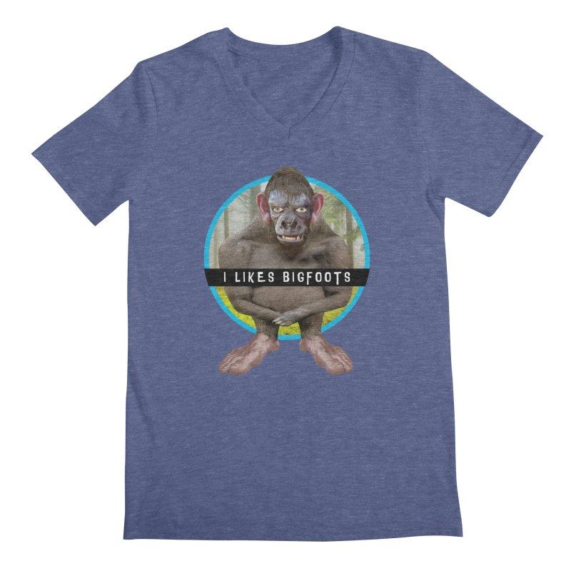 I Likes Bigfoots Men's V-Neck by The Rake & Herald Online Clag Emporium