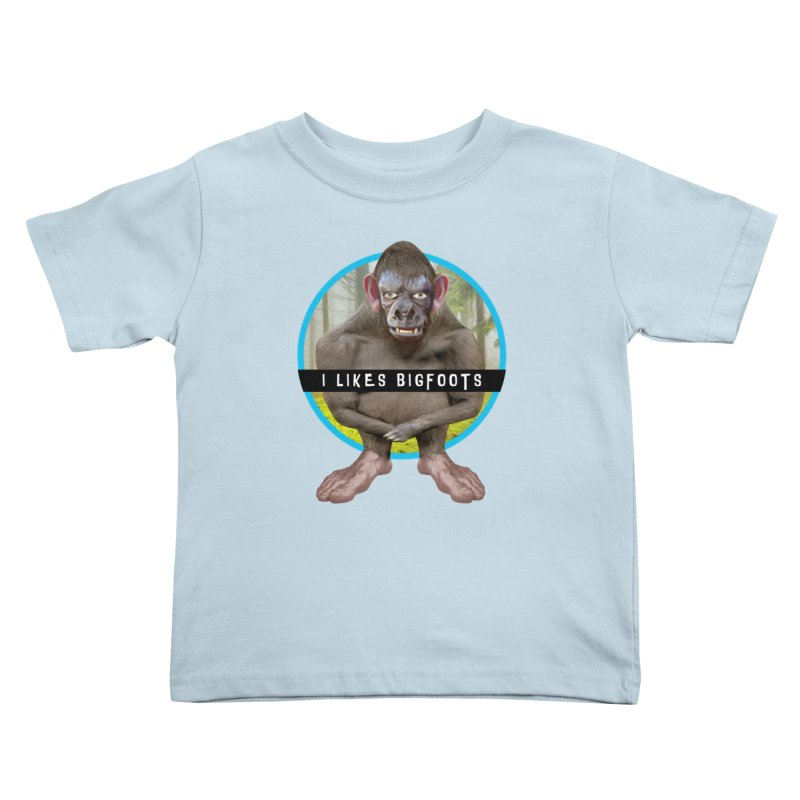 I Likes Bigfoots Kids Toddler T-Shirt by The Rake & Herald Online Clag Emporium