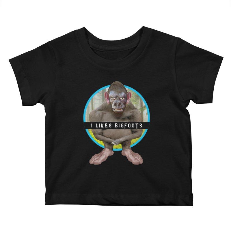 I Likes Bigfoots Kids Baby T-Shirt by The Rake & Herald Online Clag Emporium