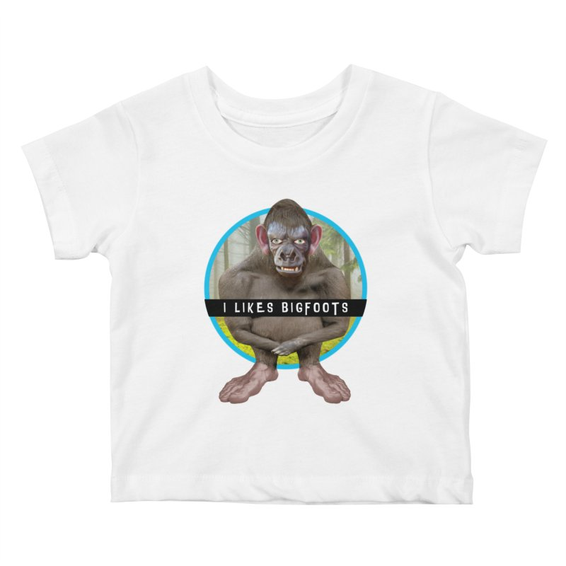 I Likes Bigfoots Kids Baby T-Shirt by The Rake & Herald Online Clag Emporium