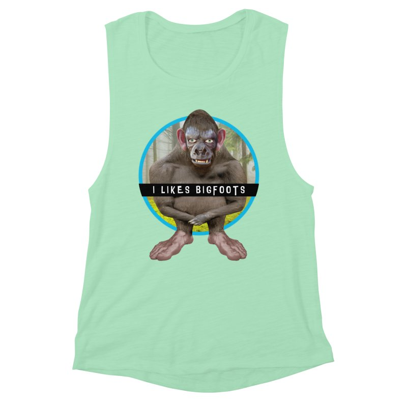 I Likes Bigfoots Women's Muscle Tank by The Rake & Herald Online Clag Emporium