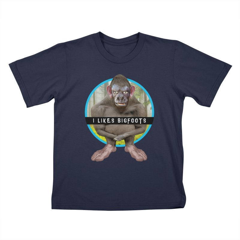 I Likes Bigfoots Kids T-Shirt by The Rake & Herald Online Clag Emporium