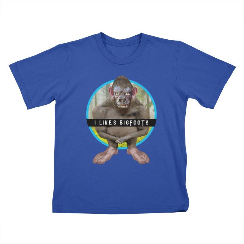 I Likes Bigfoots Kids T-Shirt by The Rake & Herald Online Clag Emporium