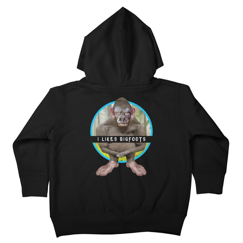 I Likes Bigfoots Kids Toddler Zip-Up Hoody by The Rake & Herald Online Clag Emporium