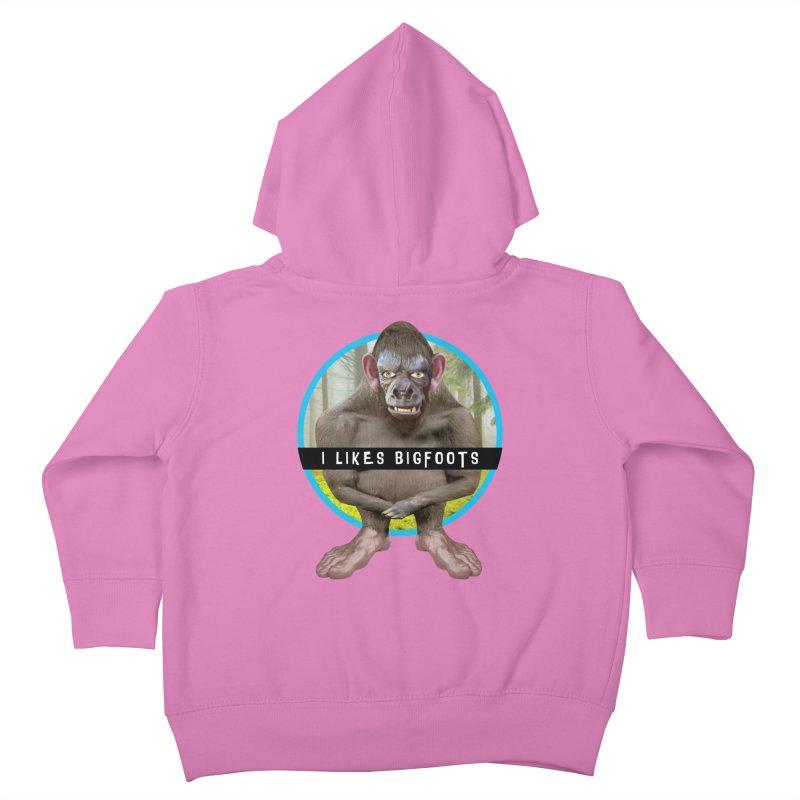 I Likes Bigfoots Kids Toddler Zip-Up Hoody by The Rake & Herald Online Clag Emporium