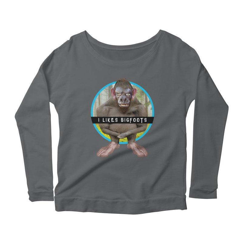 I Likes Bigfoots Women's Scoop Neck Longsleeve T-Shirt by The Rake & Herald Online Clag Emporium