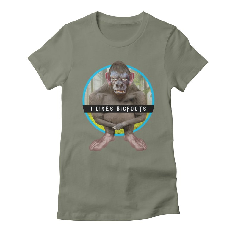 I Likes Bigfoots Women's T-Shirt by The Rake & Herald Online Clag Emporium