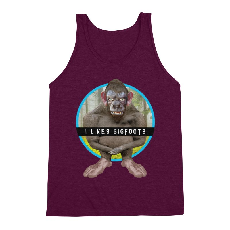 I Likes Bigfoots Men's Triblend Tank by The Rake & Herald Online Clag Emporium