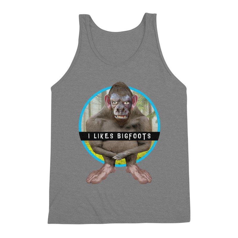 I Likes Bigfoots Men's Triblend Tank by The Rake & Herald Online Clag Emporium