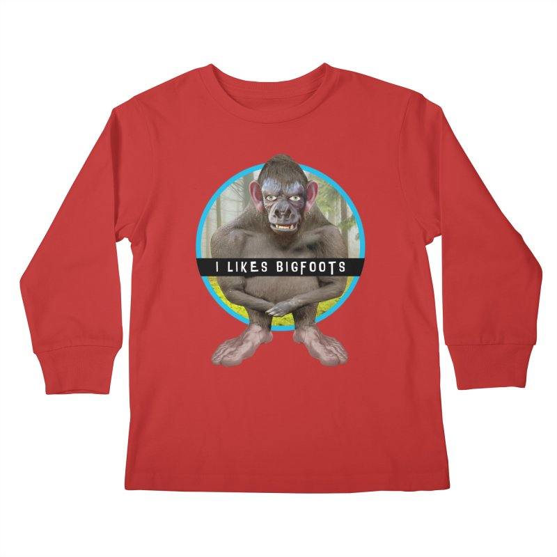 I Likes Bigfoots Kids Longsleeve T-Shirt by The Rake & Herald Online Clag Emporium