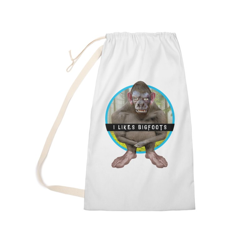 I Likes Bigfoots Accessories Laundry Bag Bag by The Rake & Herald Online Clag Emporium