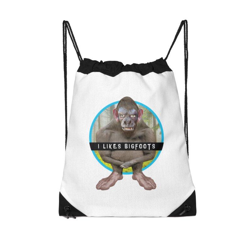 I Likes Bigfoots Accessories Drawstring Bag Bag by The Rake & Herald Online Clag Emporium