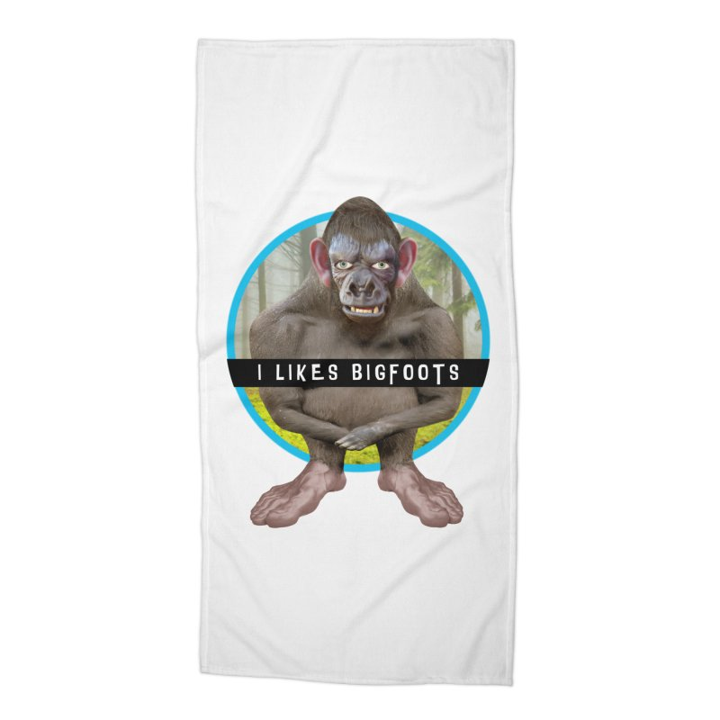 I Likes Bigfoots Accessories Beach Towel by The Rake & Herald Online Clag Emporium