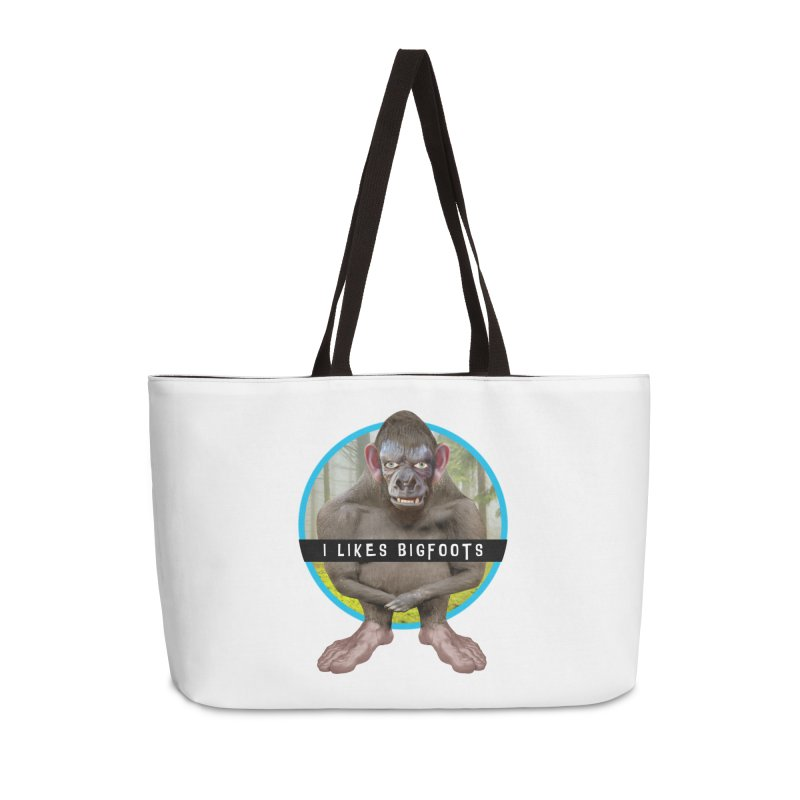 I Likes Bigfoots Accessories Weekender Bag Bag by The Rake & Herald Online Clag Emporium
