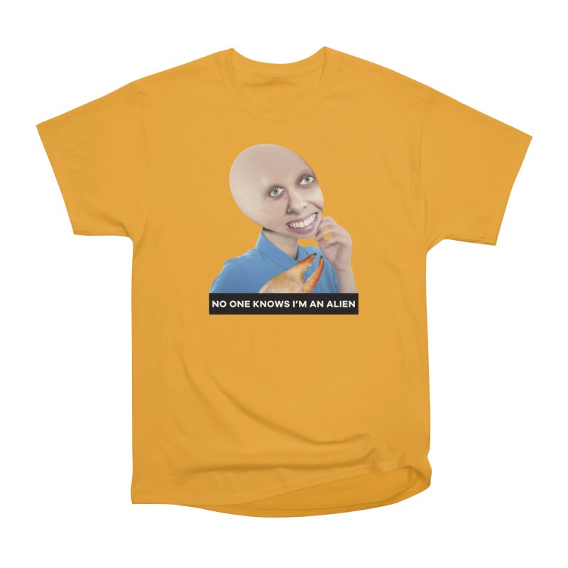 No One Knows I'm an Alien Men's Classic T-Shirt by The Rake & Herald Online Clag Emporium