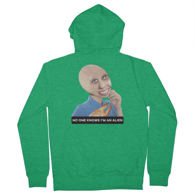 No One Knows I'm an Alien Women's Zip-Up Hoody by The Rake & Herald Online Clag Emporium
