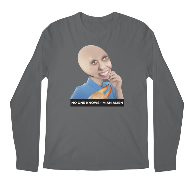 No One Knows I'm an Alien Men's Longsleeve T-Shirt by The Rake & Herald Online Clag Emporium