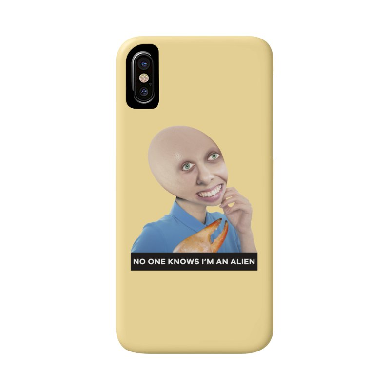 No One Knows I'm an Alien Accessories Phone Case by The Rake & Herald Online Clag Emporium