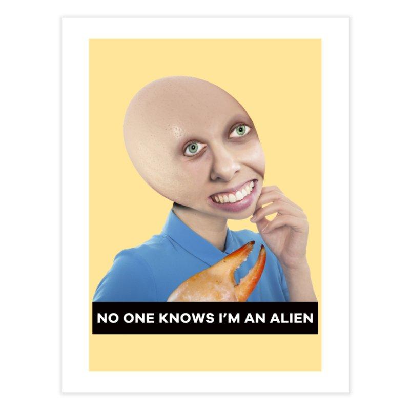 No One Knows I'm an Alien Home Fine Art Print by The Rake & Herald Online Clag Emporium