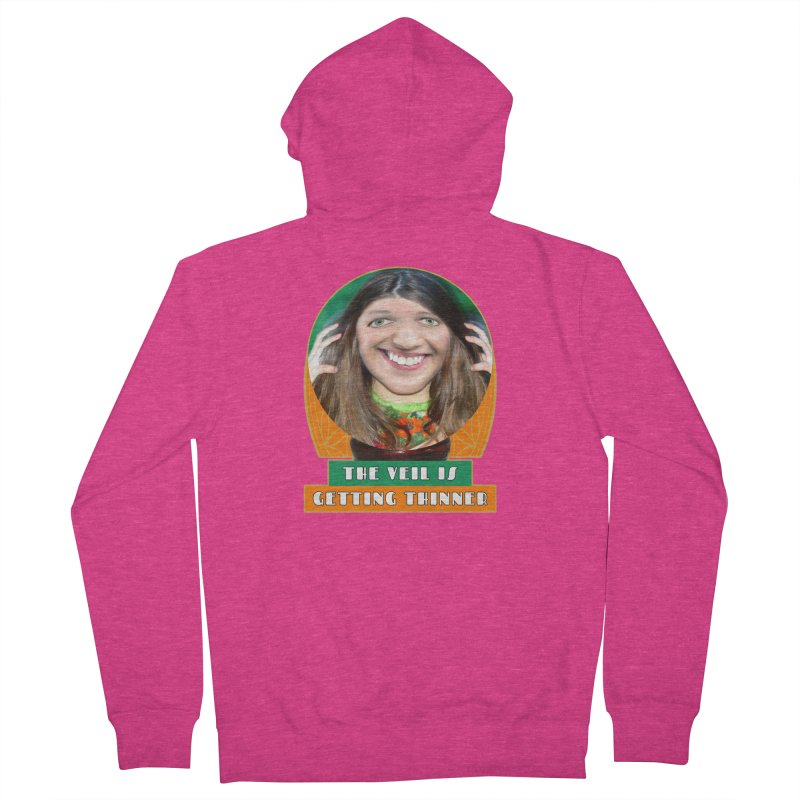 The Veil Is Getting Thinner Women's French Terry Zip-Up Hoody by The Rake & Herald Online Clag Emporium