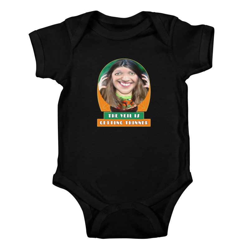 The Veil Is Getting Thinner Kids Baby Bodysuit by The Rake & Herald Online Clag Emporium