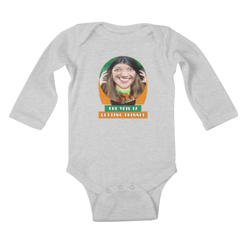 The Veil Is Getting Thinner Kids Baby Longsleeve Bodysuit by The Rake & Herald Online Clag Emporium