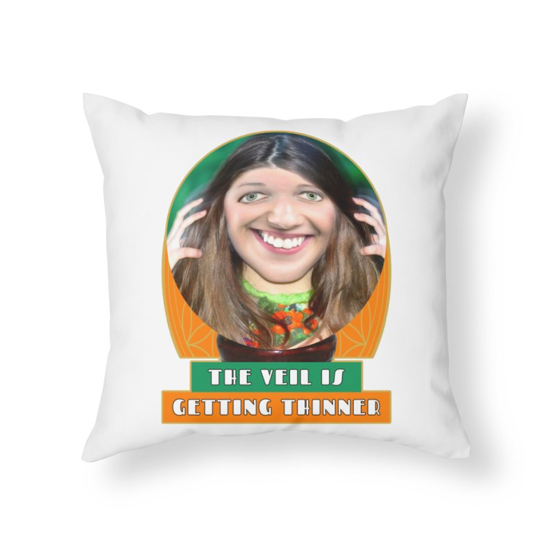 The Veil Is Getting Thinner Home Throw Pillow by The Rake & Herald Online Clag Emporium