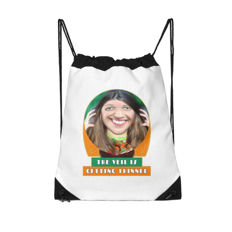 The Veil Is Getting Thinner Accessories Drawstring Bag Bag by The Rake & Herald Online Clag Emporium