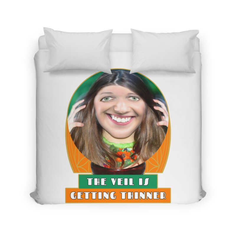 The Veil Is Getting Thinner Home Duvet by The Rake & Herald Online Clag Emporium