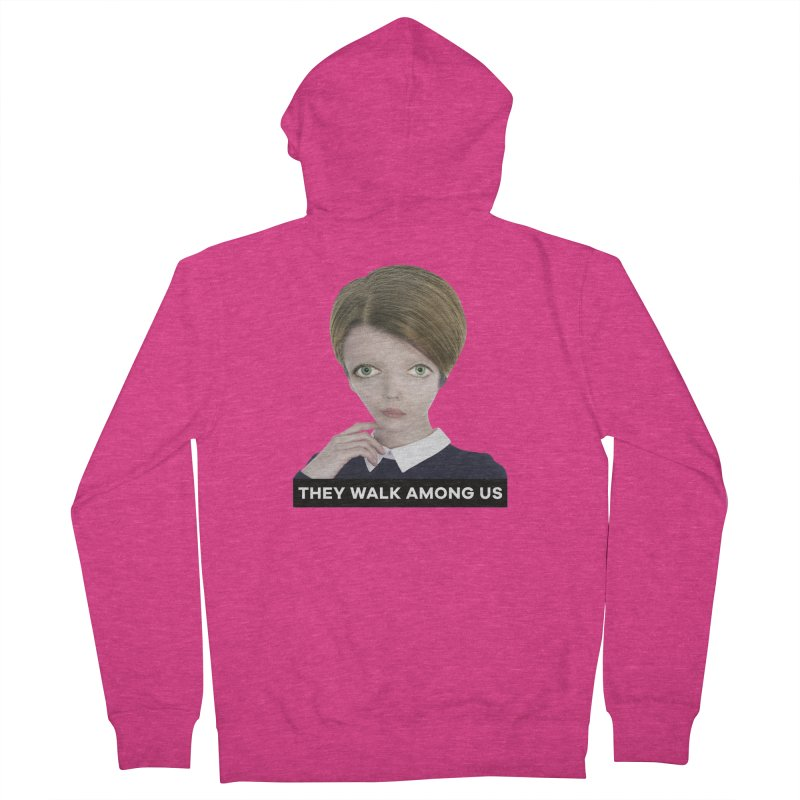 They Walk Among Us Women's French Terry Zip-Up Hoody by The Rake & Herald Online Clag Emporium